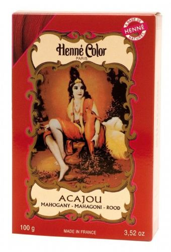 Mahogany  Acajou Henne Natural Henna Hair Dye Powder